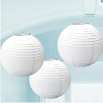 50 Lamparas Chinas Blancas De 40 X 40 Cms Envio Gratis