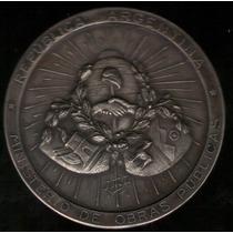 Medalla Ferrocarril Andino A Villa Dolores 1905 Plata Exc+