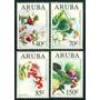 Estampillas Aruba Serie De 4 Valores 1994 Flora