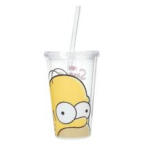 Vaso Homero The Simpsons Homer Acrilico Nuevo Transparente