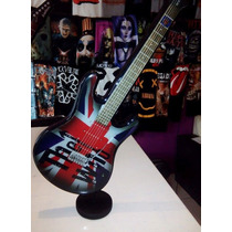 Guitarra Decorativa Ac/c Rolling Stones Slayer The Who Rock