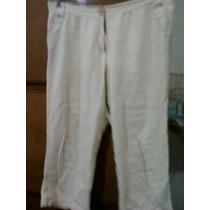 Pantalon Capri, Talle 3, Tela Tipo Lino, Pero Más Fresca !!!