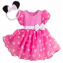 Fantasia Baby Minnie Rosa Oficial Disney