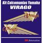 Kit Calcomania Moto Yamaha Virago Marca 3m Con Protector