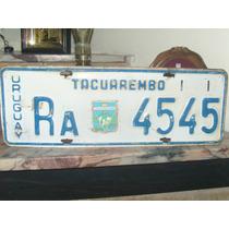 Matricula Chapa Antigua De Tacuarembo