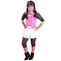 Fantasia Monster High Dráculaura Luxo M - Sulamericana