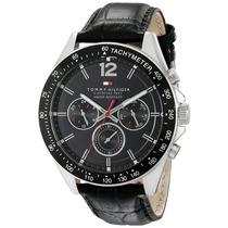 Relógio Tommy Hilfiger 1791117 Pulseira Em Couro Preto