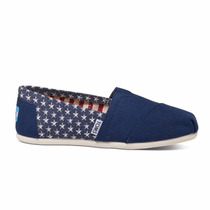 Zapatos Toms Navy Stars Mujer