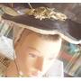 Antigua Boina Sombrero Rafia Teatro-foto Antigua-disfraz