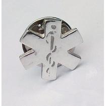 Pin Cruz Estrella La Vida Médico Ambulancia Enfermera Plata