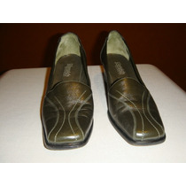 Norwich Zapatos De Mujer Cuero Color Verde Oscuro Nro 39