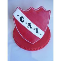 Escudo Futbol Independiente Adorno De Torta Porcelana Fria