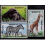 Mongolia, Fauna, Animales, 3 Sellos Diferentes De 1991