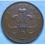 Inglaterra Gran Bretaña 2 New Pence De 1971 Isabel Ii Km#916