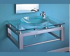 Mesada De Vidrio Con Bacha Baño Moderno Diseño 50x70 50722 ...