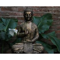 Estatua Figura Buda Decoración Zen Feng Shui Meditación 33cm