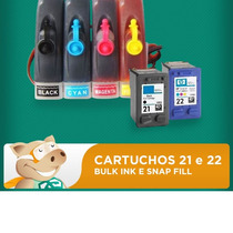 Bulk Hp Cartuchos 21 E 22 Adaptado / Tintas / Frete Grátis