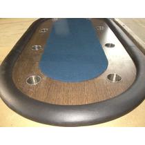 Mesa De Poker Oval Para 10 Jugadores Con Posavasos - Fabrica