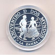 La Zamba 25 $ 1997 Encuentro De Dos Mundos Plata Proof