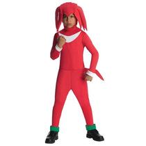 Disfraz De Sonic, Knuckles Para Niños, Envio Gratis