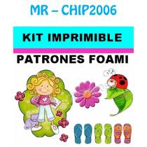 Kit Imprimible Patrones Para Foami Goma Eva