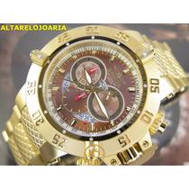 Relógio Invicta Subaqua Cronógrafo Plaque Ouro Suiço 14455