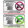 Aviso Prohibicion Porte De Armas Rc12