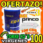 Wow Torre 100 Cd Virgenes Princo 56x 80min / 700mb Cds