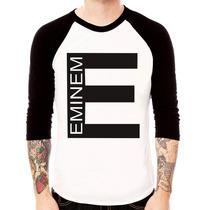 Camisa Blusa Raglan 3/4 Eminem