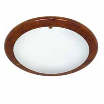 Plafon Base Laminado Madera/ Pantalla Cristal 30cmx7.5cm Cux