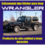 Calcomania Tipo Sticker Para Jeep Wrangler Laterales Capot