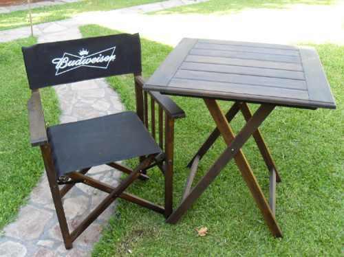 Mesas y sillas plegables de madera ideal jardin bar pab - Sillas de madera para bar ...