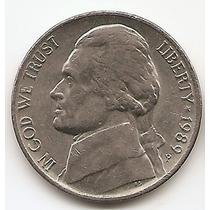 Moneda Estados Unidos De 5 Cents.five Cents Año1989 P