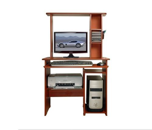Mesa para computadora pc escritorio d 3 niveles z 7 cedro for Diseno de mesa de computadora