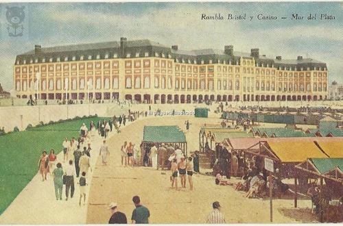 Pp04 Mar Del Plata Rambla Bristol Casino Postal Rey
