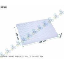 Filtro De Cabine Ar Condicionado C3 Picasso 12/... - Schuck