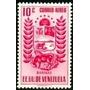 Estampillas Venezuela 1953 Aereo Barinas