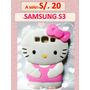 Case Funda Para Samsung Galaxy S3 Hello Kitty A Solo S/.20