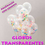 Globo Transparente R12 Latex Pqt 50 Un