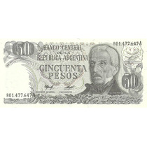 Billete 50 Pesos Ley Reposicion Bottero 2382b Sin Circular
