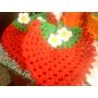 Crochet Agarraderas Para La Cocina Frutillas