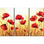 Cuadros Tripticos Dipticos Flores Modernas Amapolas Jazmín O