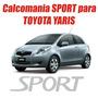 Calcomania Stikers Sport Para Compuerta De Toyota Yaris