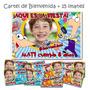Phineas Y Ferbs Cartel De Cumpleaños + 15 Souvenirs Imanes