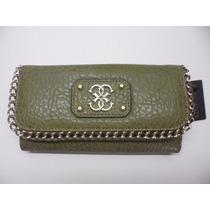 Billetera Importada Guess Verde Oliva Deputy Wallet Clutch