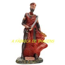 Escultura Orixa Africano Iansã Oya Imagem 23cm Estatua Gesso
