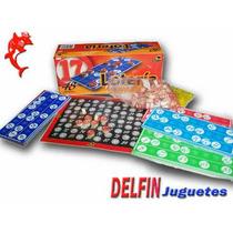 Lotería Familiar Fichas De Medera + 48 Cartones Bisonte
