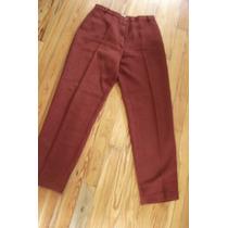Pantalon Color Bordo De Invierno -talle 46-port Said