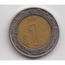 Mexico Moneda Bimetalica 1 Peso Año 1998 !!!