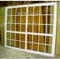 Puerta Ventana Balcon Aluminio Blco Vidrio Repartido 240x200